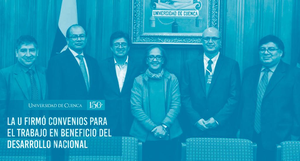 Firma del Convenio con la universidad de Cuenca
